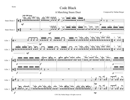 Code Black - Marching Snare Duet