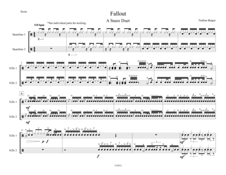 Fallout - Marching Snare Duet