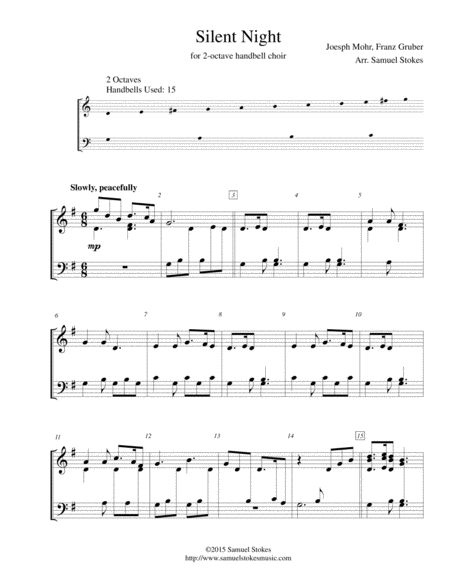 Silent Night - for 2-octave handbell choir