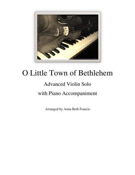 O Little Town of Bethlehem Violin Solo
