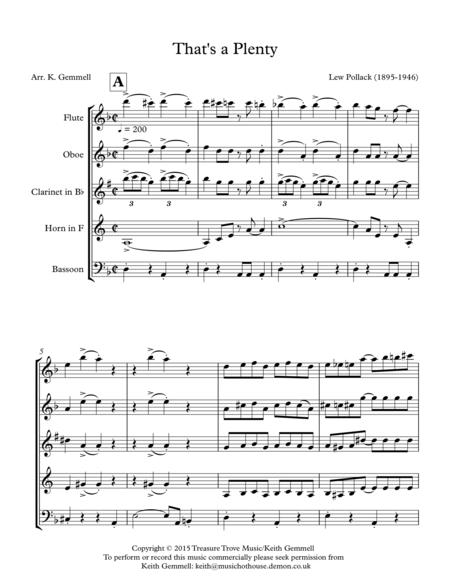 That's a Plenty: Wind Quintet