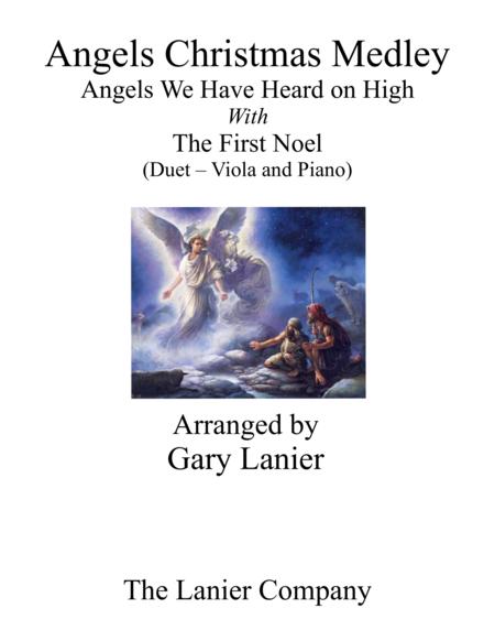 Gary Lanier: ANGELS CHRISTMAS MEDLEY (Duet –  Viola & Piano with Parts)