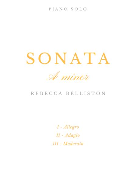 Sonata in A minor (Original Piano Solo)