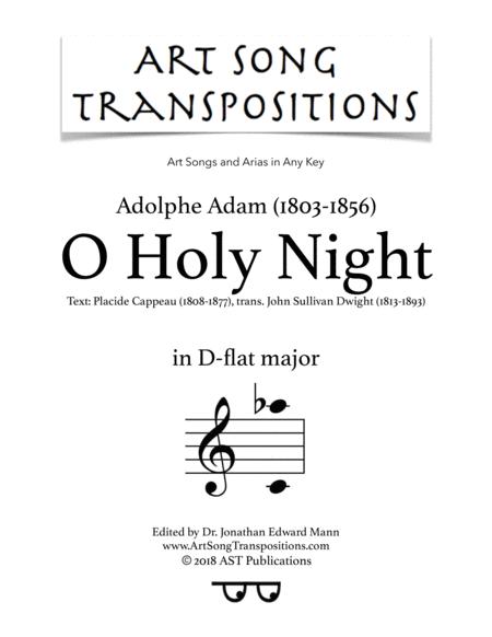 O Holy Night (D-flat major)