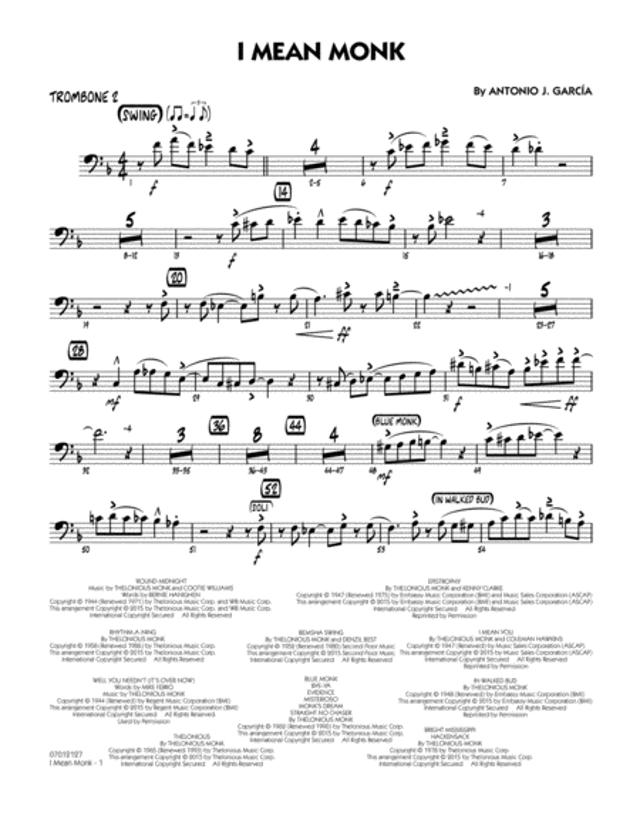 I Mean Monk - Trombone 2