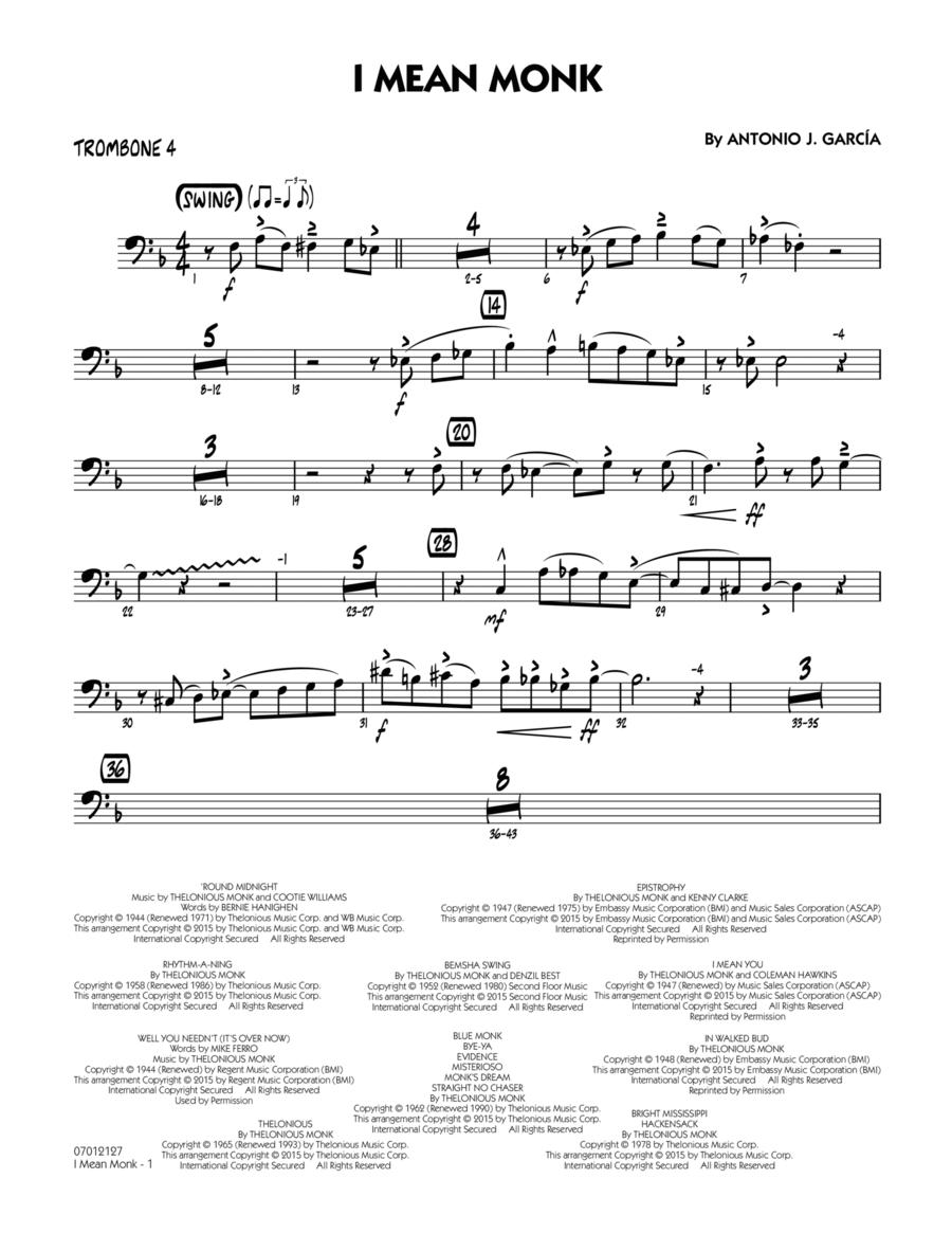 I Mean Monk - Trombone 4