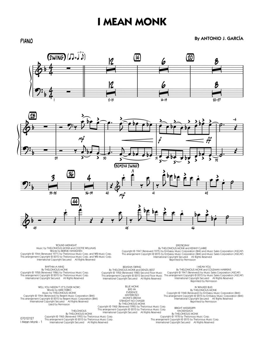 I Mean Monk - Piano