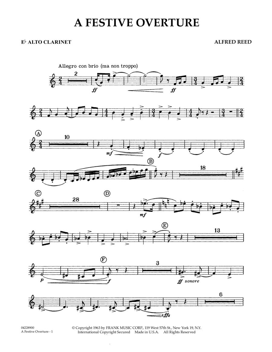 A Festive Overture - Eb Alto Clarinet