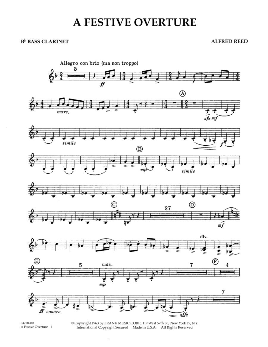 A Festive Overture - Bb Bass Clarinet