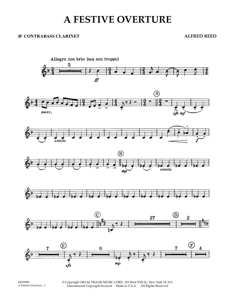 A Festive Overture - Bb Contra Bass Clarinet