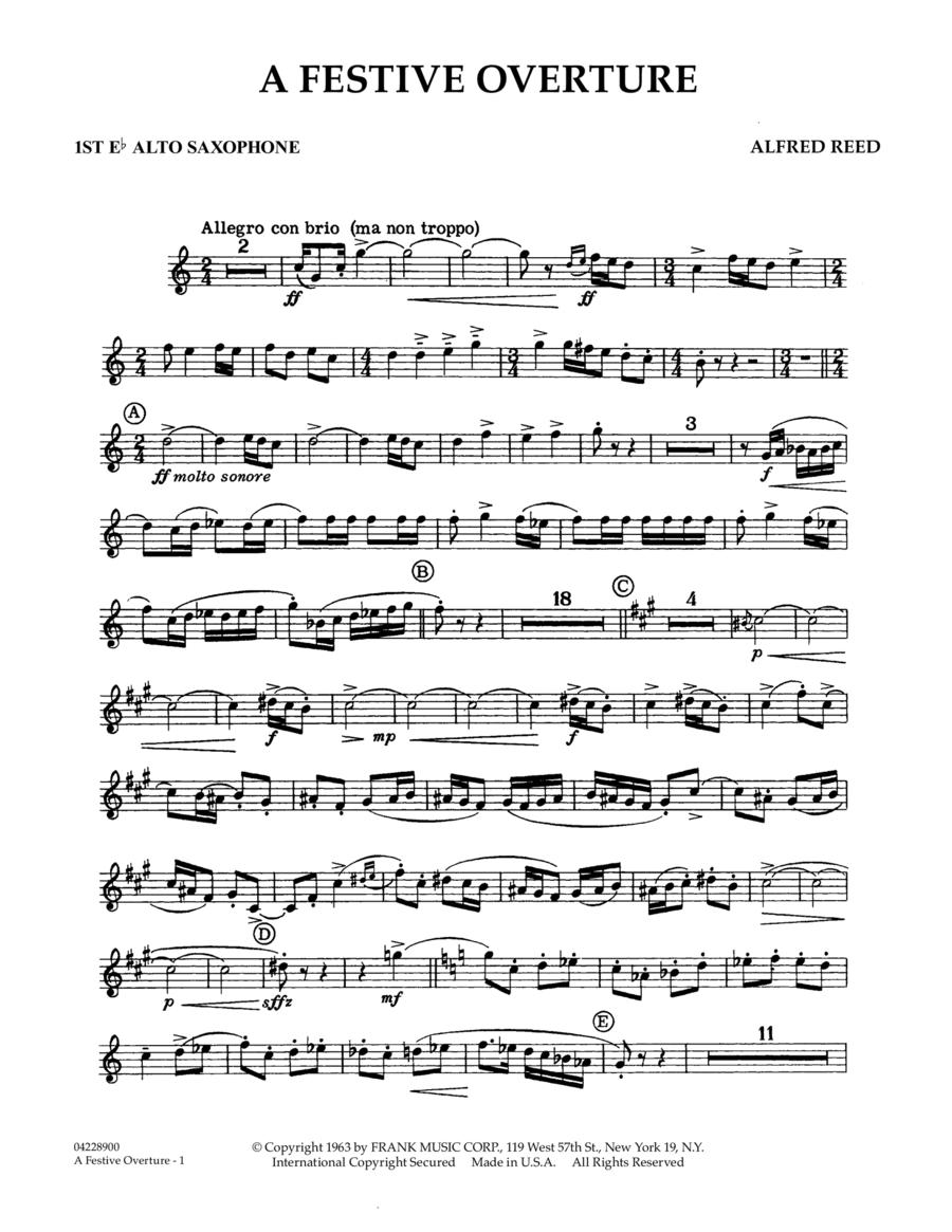 A Festive Overture - 1st Eb Alto Saxophone
