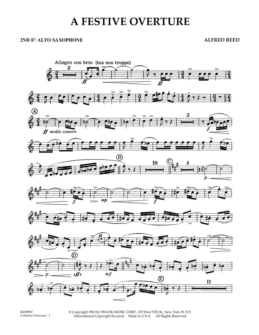 A Festive Overture - 2nd Eb Alto Saxophone
