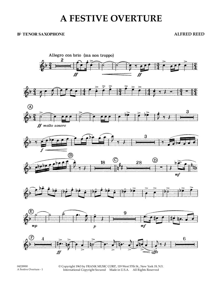 A Festive Overture - Bb Tenor Sax