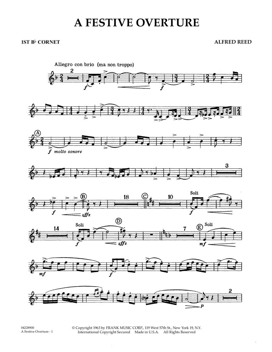 A Festive Overture - 1st Bb Cornet 1