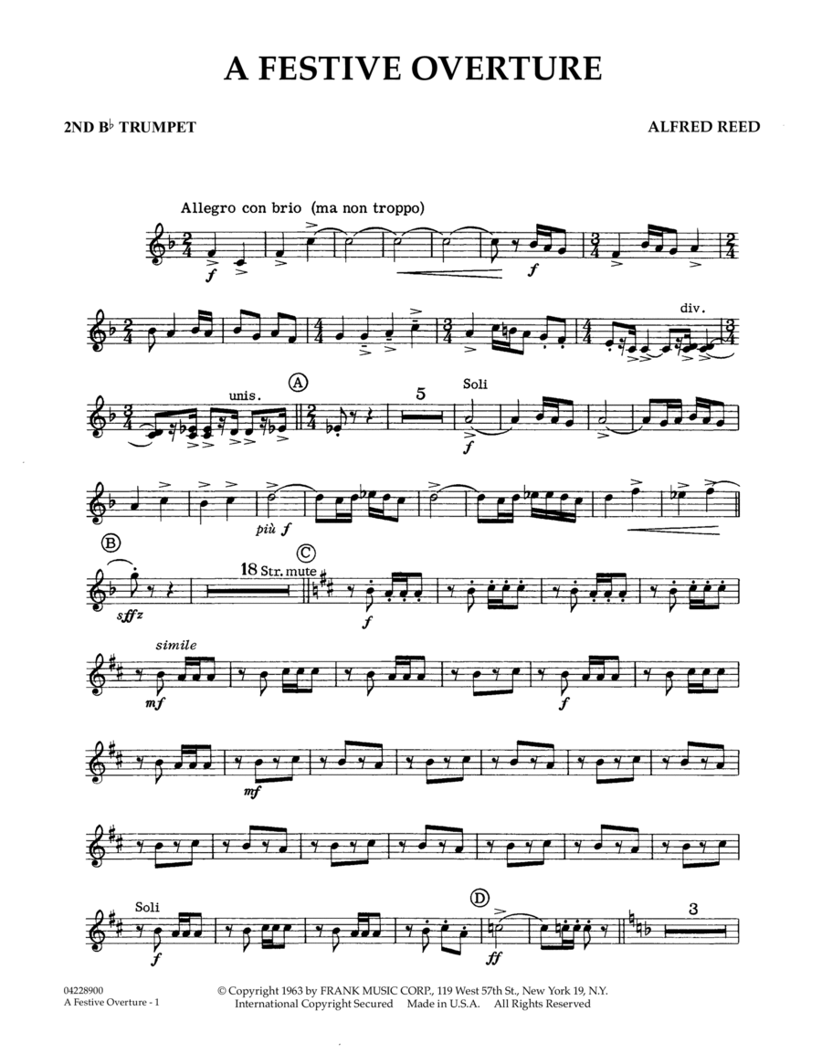 A Festive Overture - 2nd Bb Trumpet