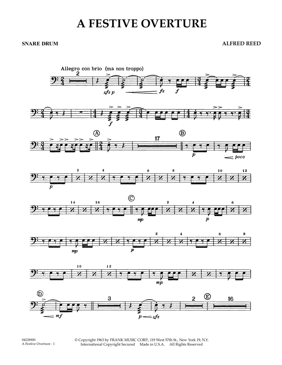 A Festive Overture - Snare Drum