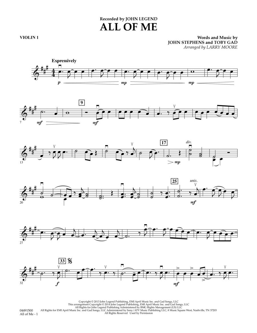 All of Me - Violin 1