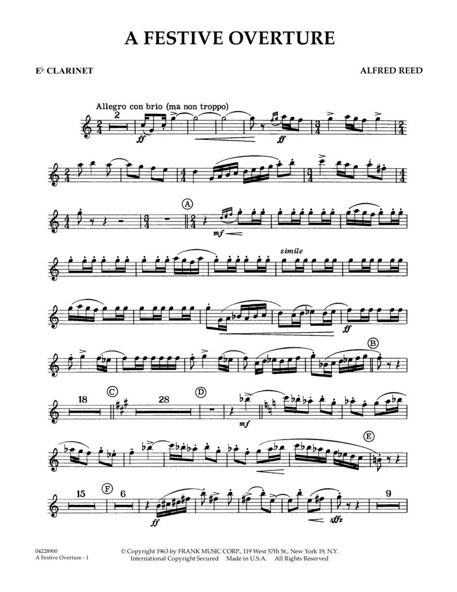 A Festive Overture - Eb Clarinet
