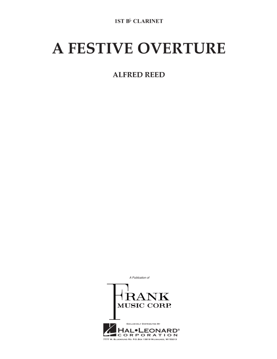 A Festive Overture - 1st Bb Clarinet