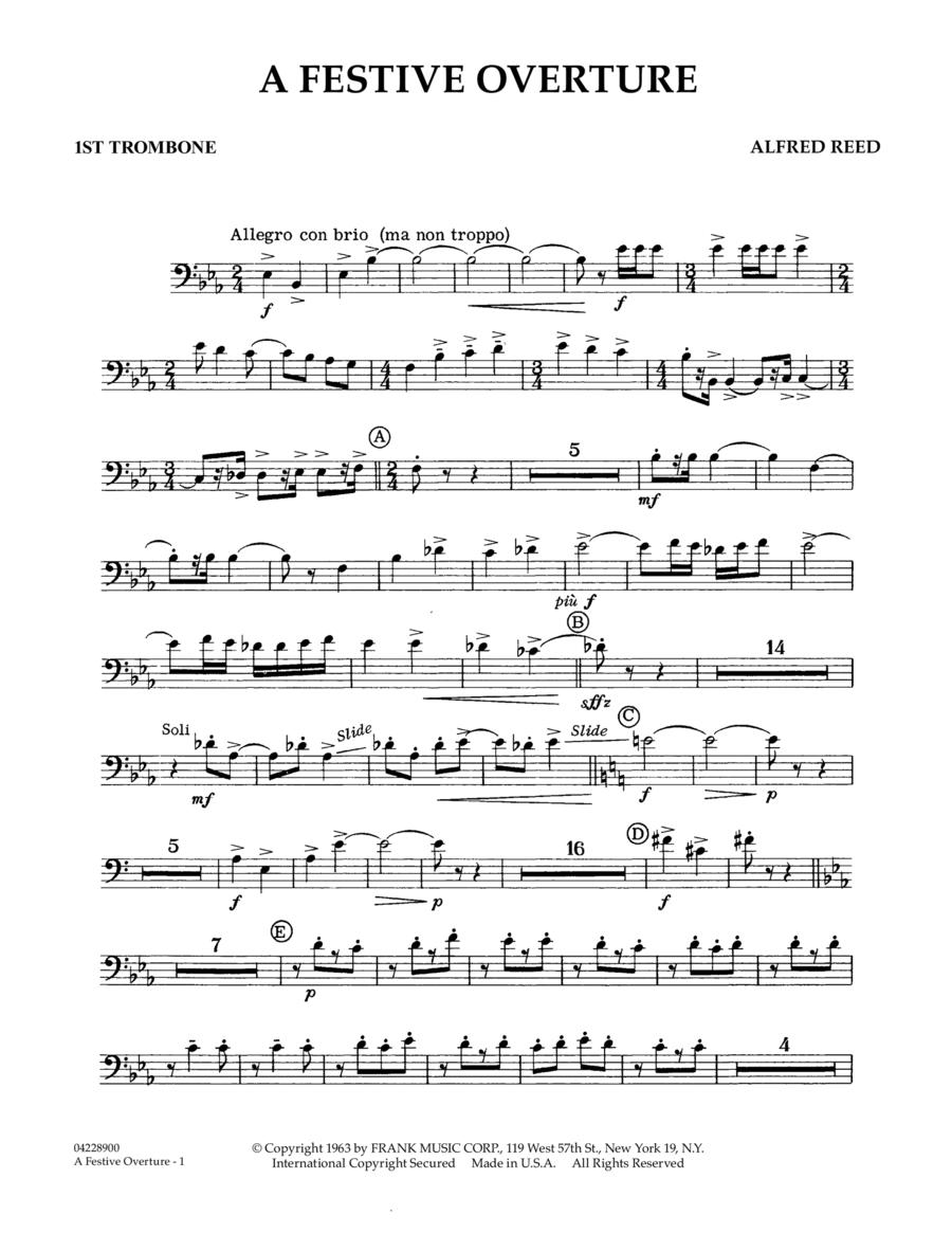 A Festive Overture - 1st Trombone