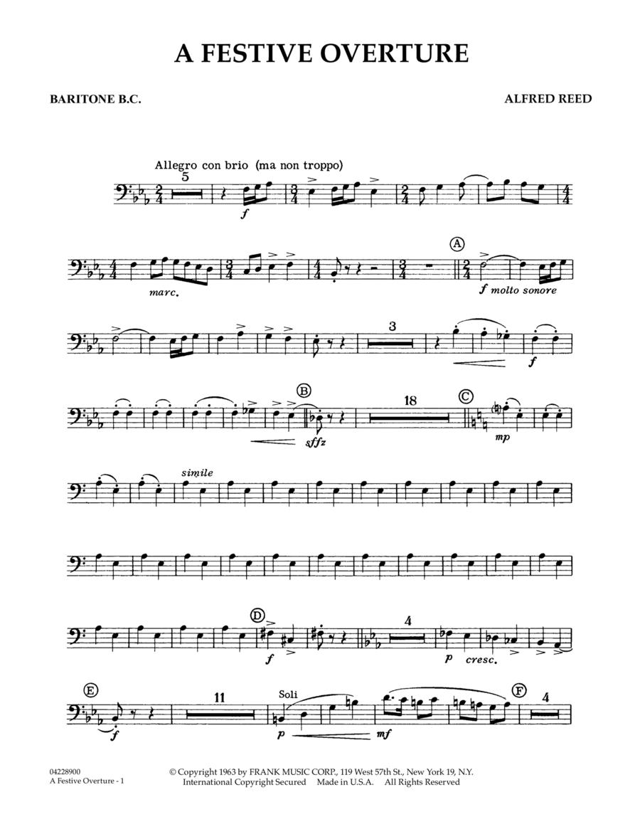 A Festive Overture - Baritone T.C.