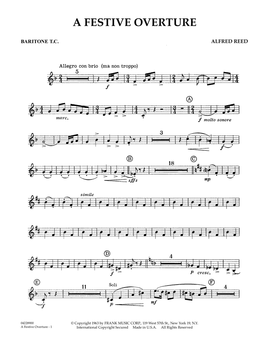A Festive Overture - Baritone B.C.