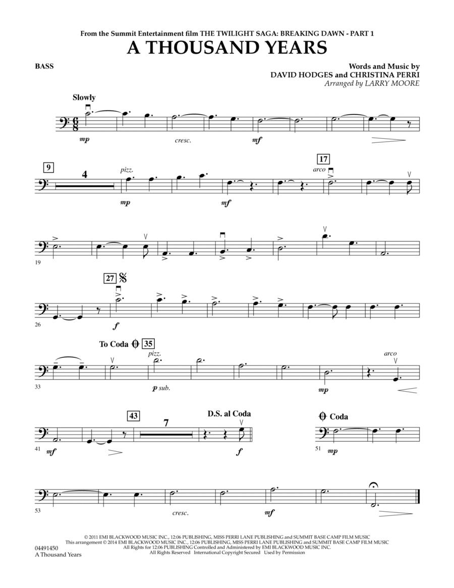 A Thousand Years - Bass