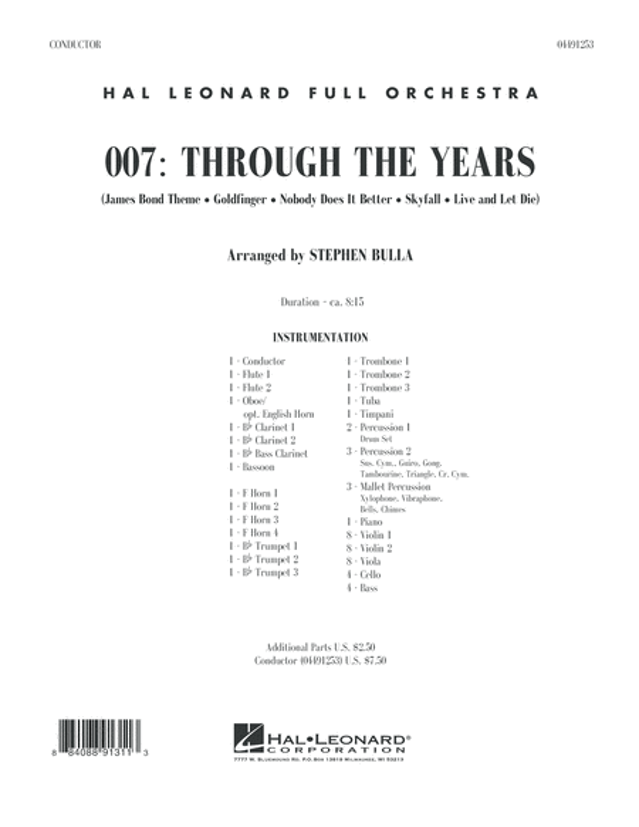 007: Through The Years - Conductor Score (Full Score)