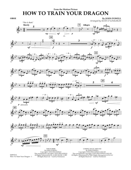How to Train Your Dragon - Oboe