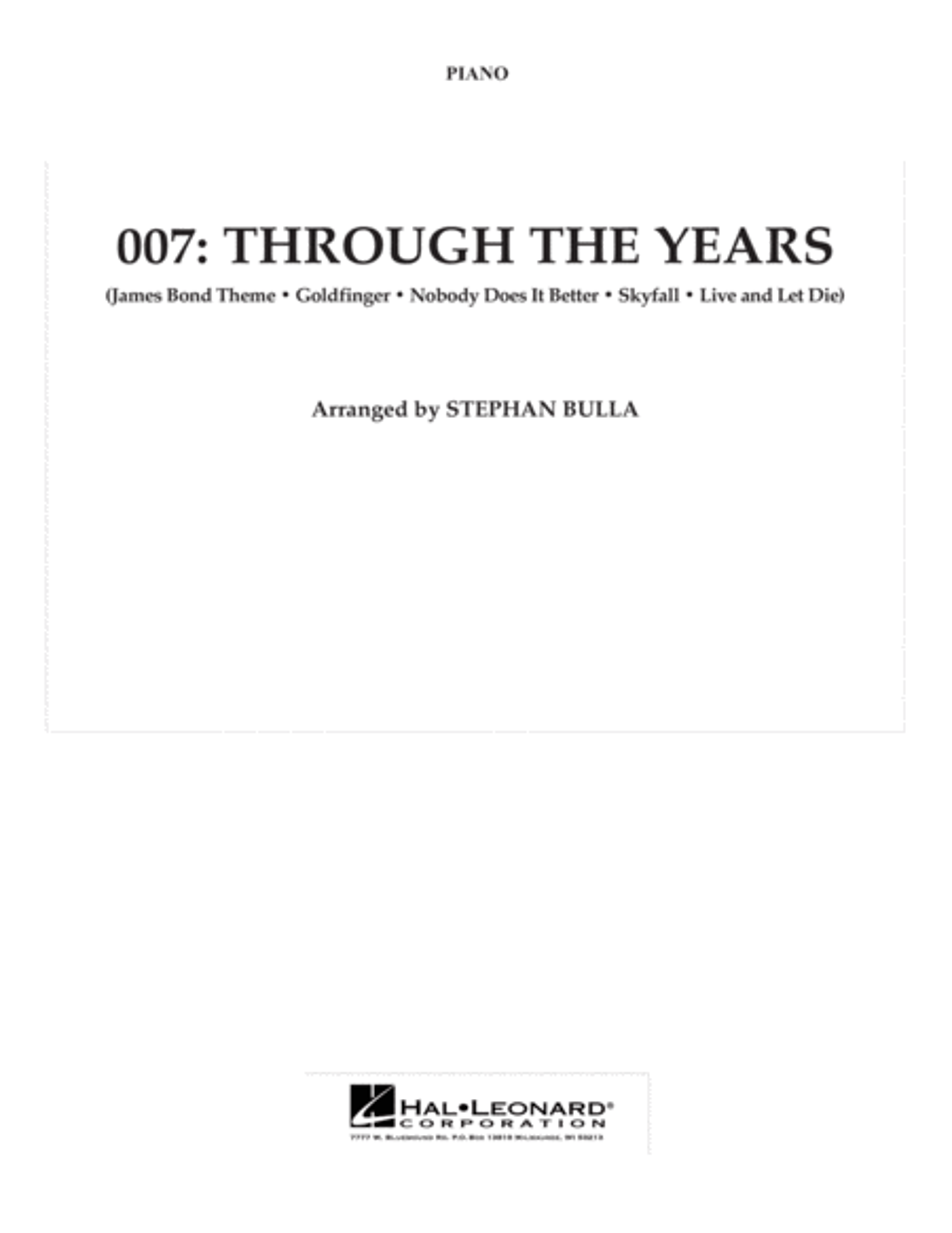 007: Through The Years - Piano