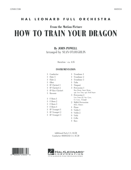 How to Train Your Dragon - Conductor Score (Full Score)