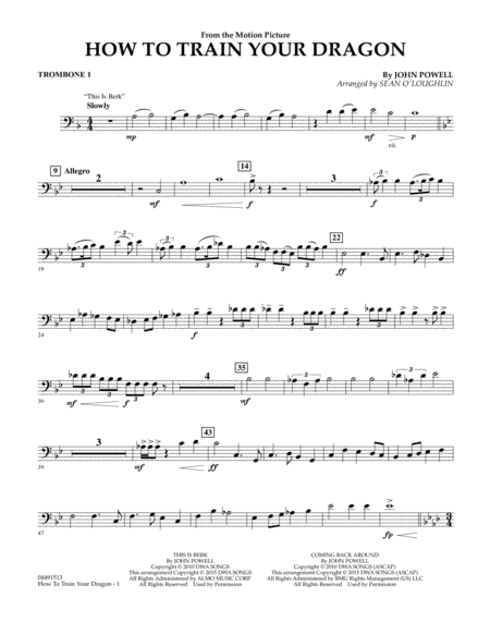 How to Train Your Dragon - Trombone 1