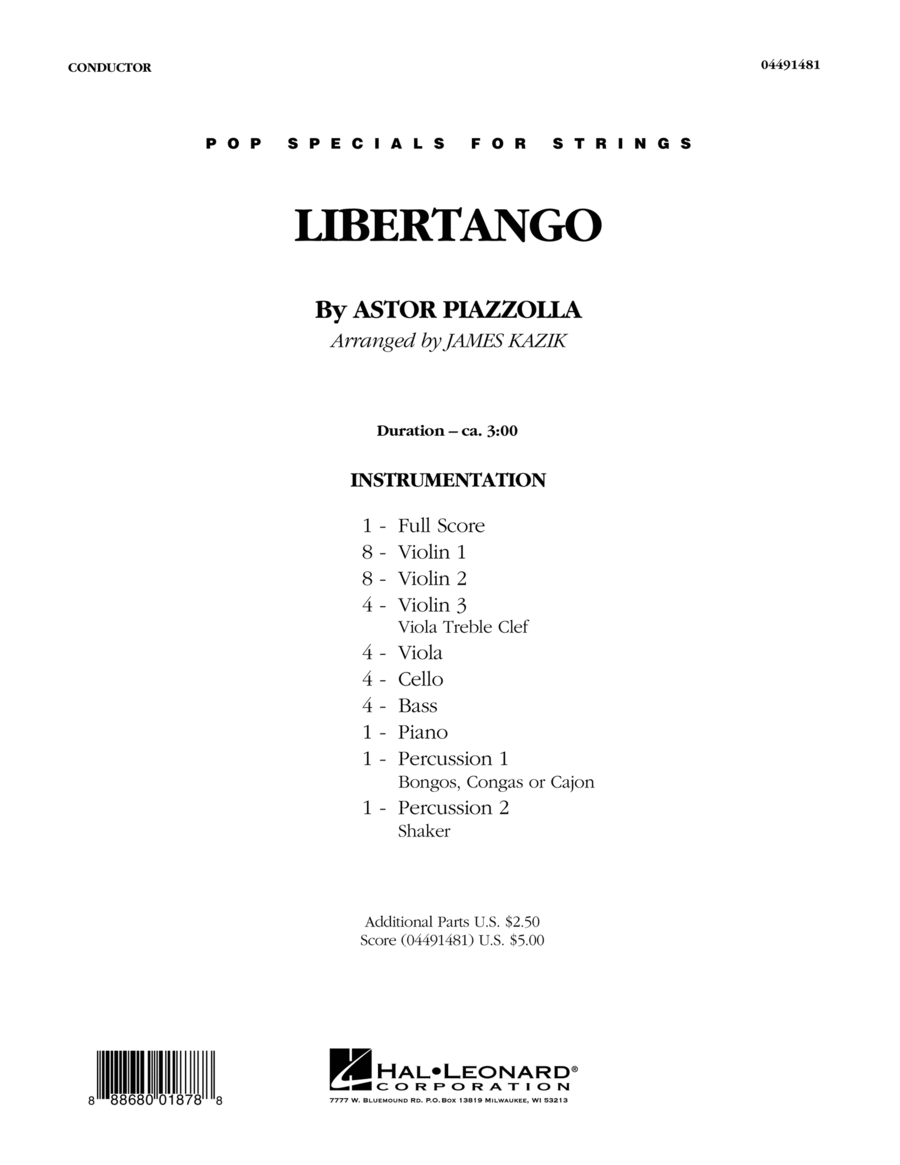 Libertango - Conductor Score (Full Score)