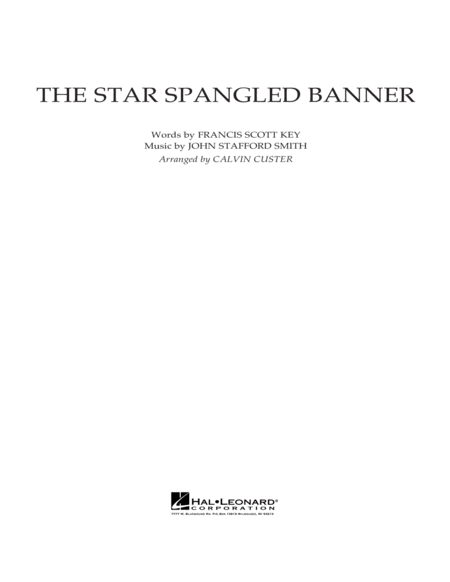 The Star Spangled Banner - Conductor Score (Full Score)