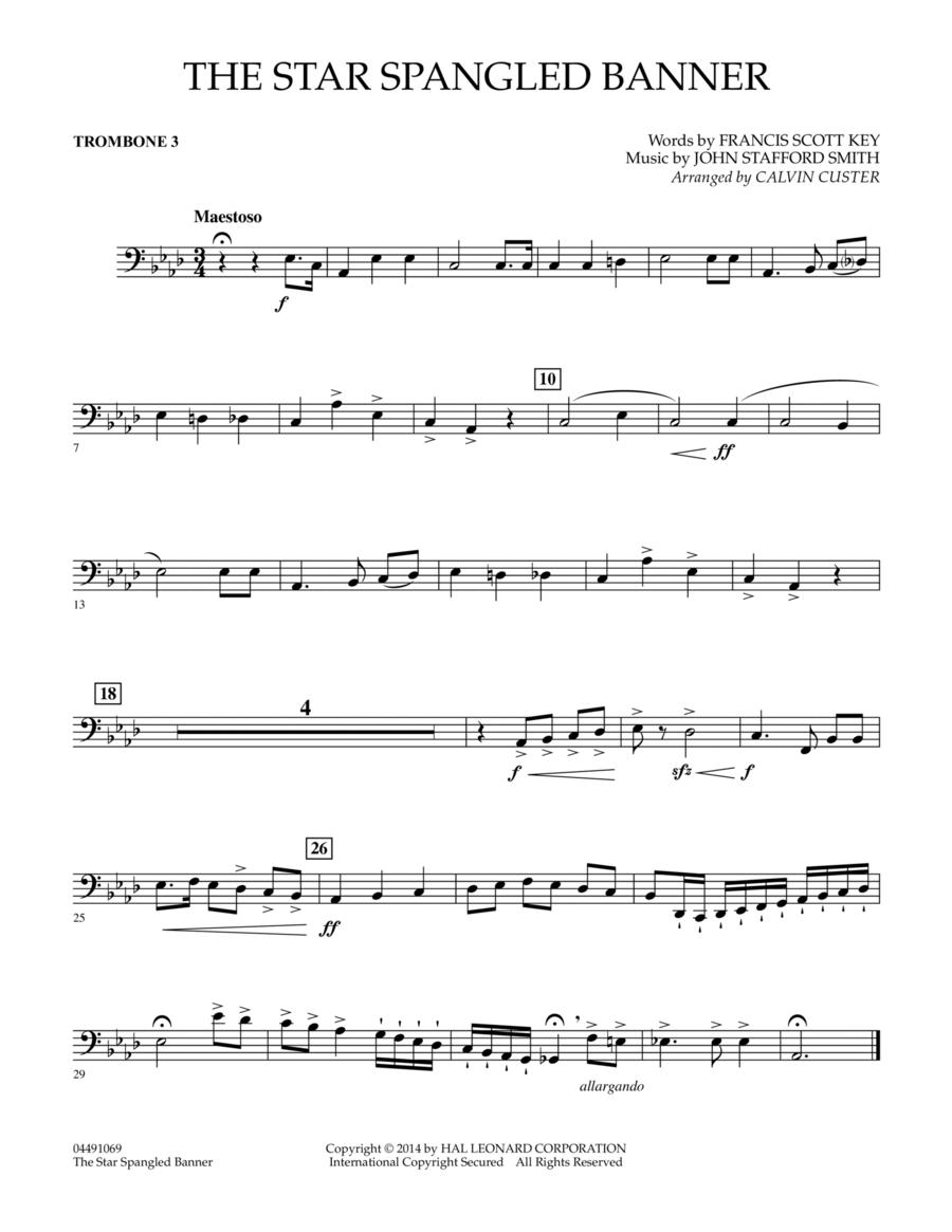 The Star Spangled Banner - Trombone 3