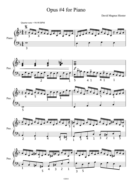Opus 4 for Piano