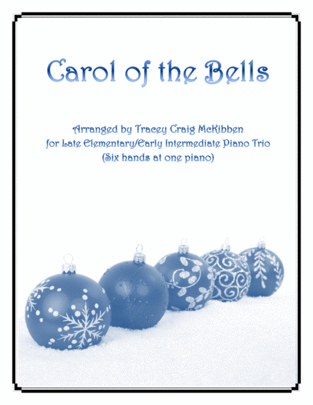 Carol of the Bells (Easy Piano Trio - 1 piano 6 hands)
