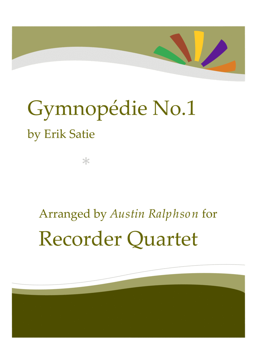 Gymnopedie No.1 - recorder quartet