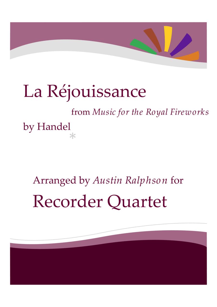 La Rejouissance (Fireworks) - recorder quartet