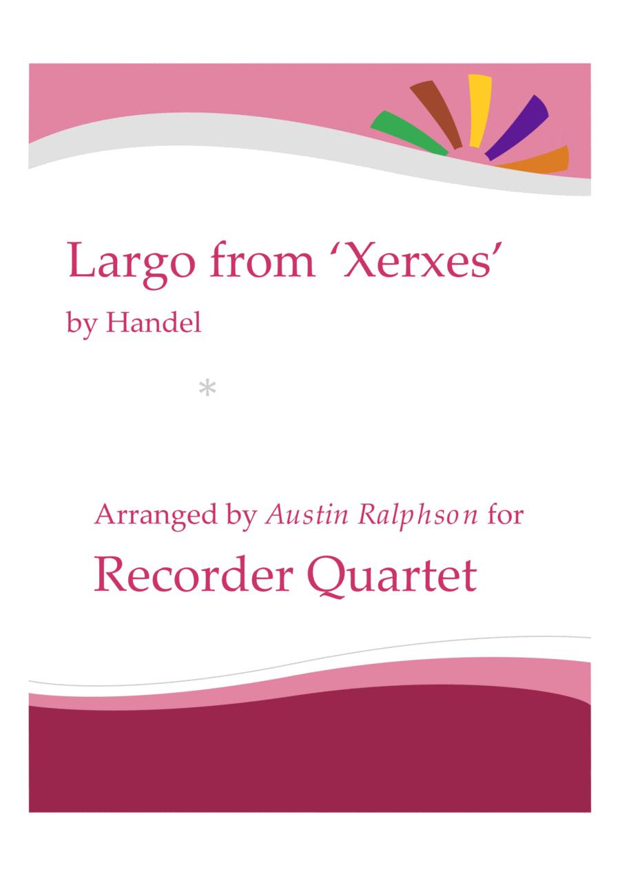 Largo from Xerxes - recorder quartet