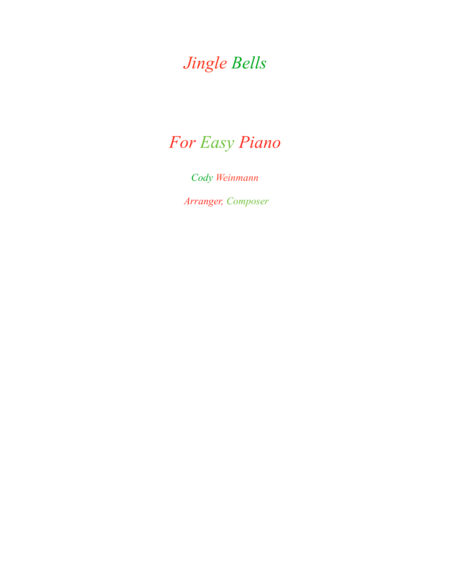 Jingle Bells For Easy Piano