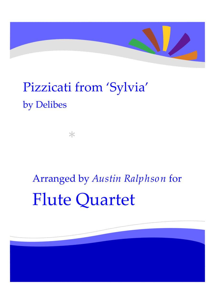 Pizzicati from 'Sylvia' - flute quartet