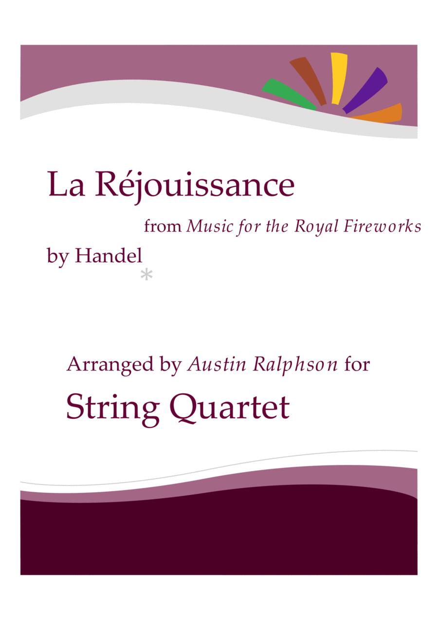 La Rejouissance (Fireworks) - string quartet