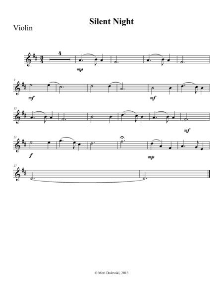 Silent Night: violin/piano