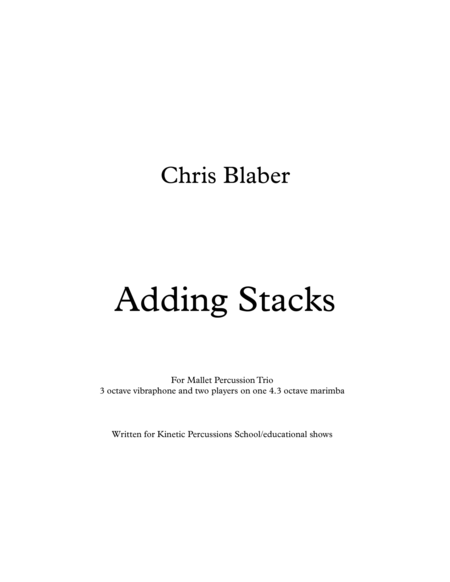 Adding Stacks