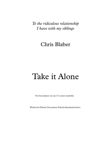 Take it Alone