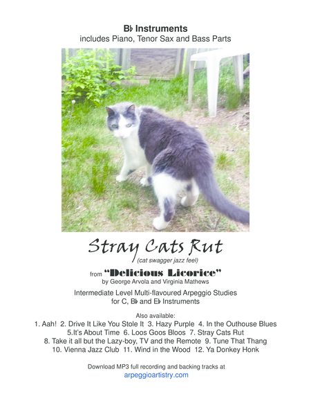 Stray Cats Rut for clarinet and tenor saxophone.