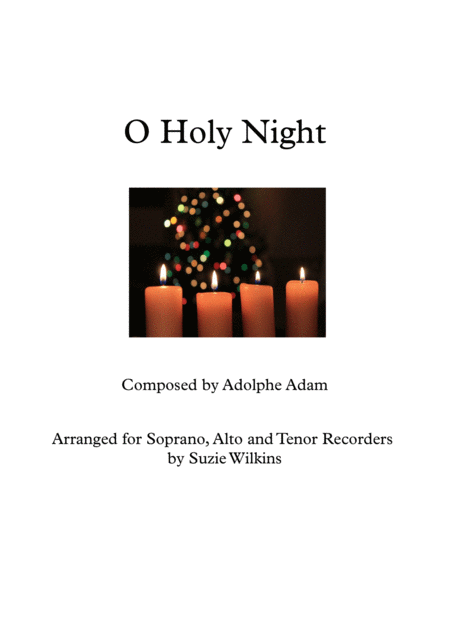 O Holy Night for Recorder Trio