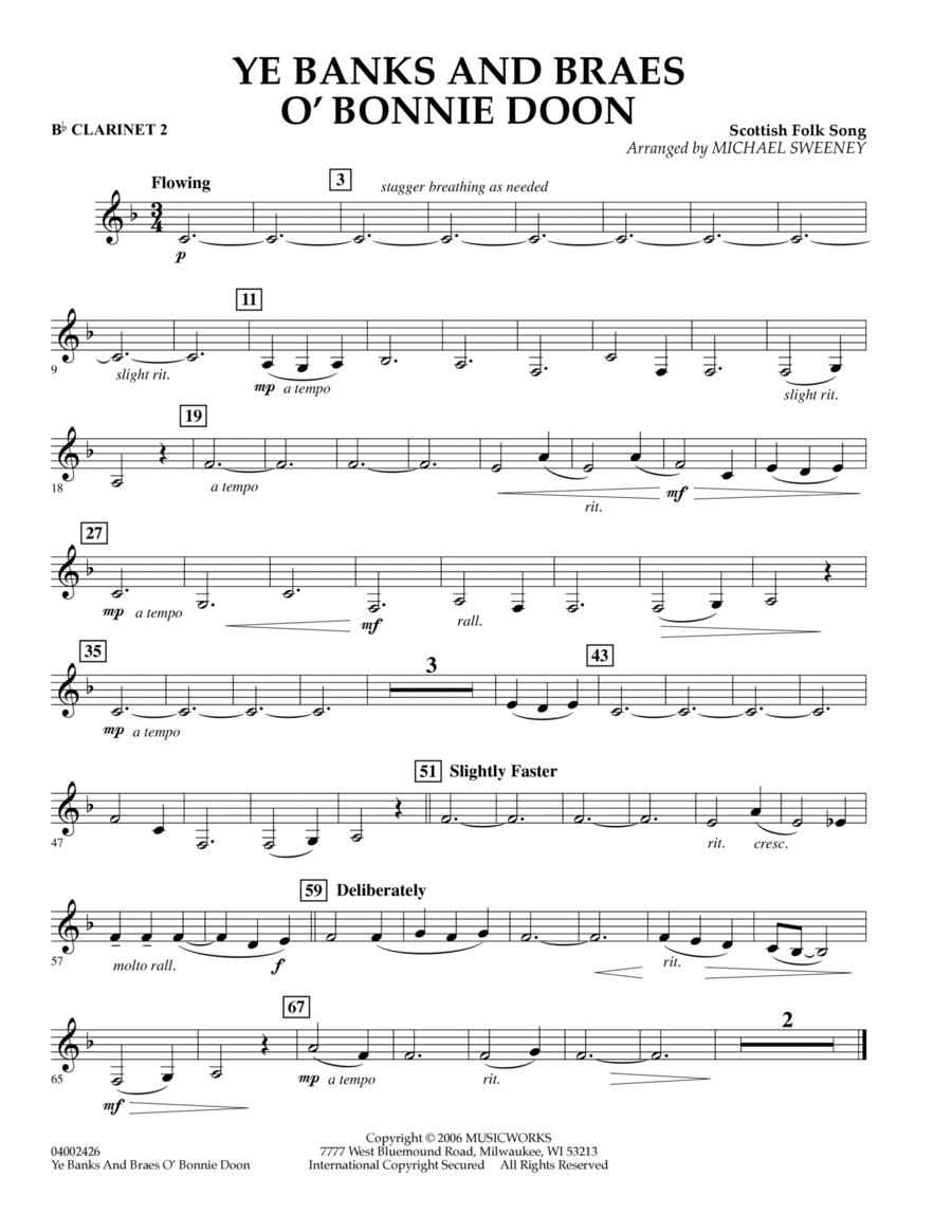 Ye Banks and Braes o' Bonnie Doon - Bb Clarinet 2