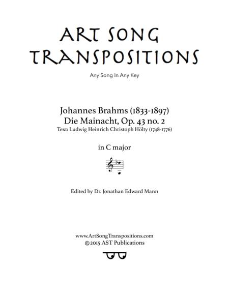 Die Mainacht, Op. 43 no. 2 (C major)